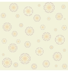 Seamless lace pattern on yellow background vector image