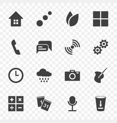 set of icons for standard applications easily vector image