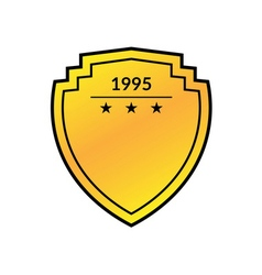 shield emblem golden flat vector image vector image