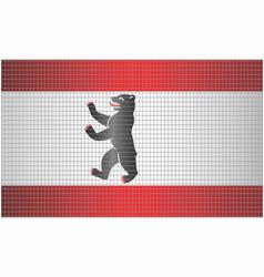 Shiny mosaic flag berlin vector