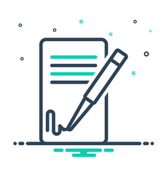 Signing contact vector