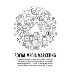 social media marketing template vector image