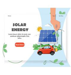 solar energy website homepage design vector image