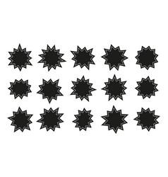 starburst stickers sunburst stars sales vector image