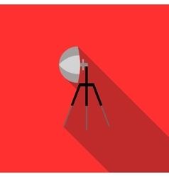 Studio flash icon in flat style vector