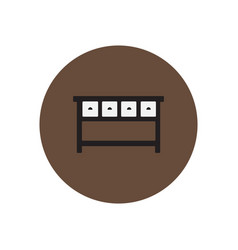 Stylish icon in circle fashion office desk vector