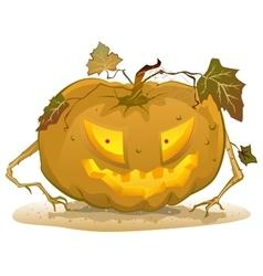 Terrible pumpkin lantern for Halloween Holiday vector