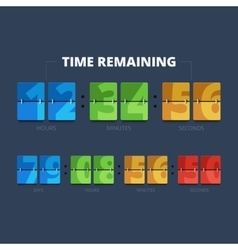 Time remaining vector