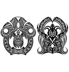turtle tattoo vector image