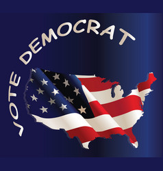 usa vote democratic vector image