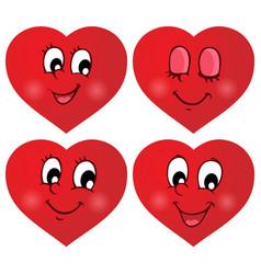 Valentine hearts thematic set 2 vector