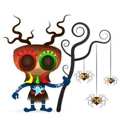 Voodoo shaman vector