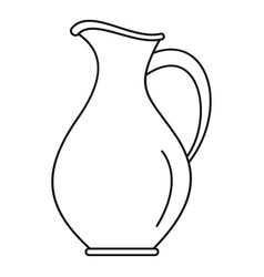 Water jug icon outline style vector