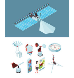 weather equipment meteorological station vector image