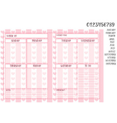 Weekly planner in pink book size vector