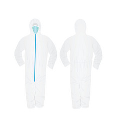 White epidemic suit vector