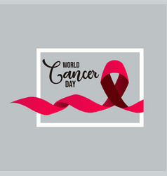 World cancer day template design vector