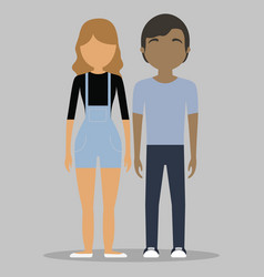 young couple icon vector image