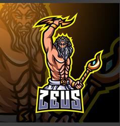 Zeus esport mascot logo design vector