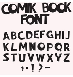 comic book font vector image vector image