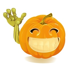 Happy Halloween Pumpkin Jack O Lantern vector image vector image