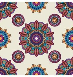 Indian mandala round pattern vector image