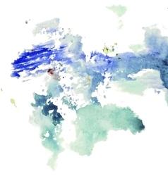 splotch watercolor vector image