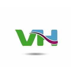 VH logo vector image vector image