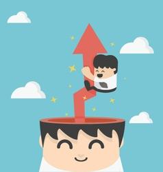 businessman creative brain vector image
