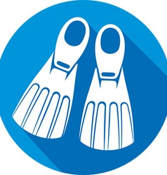 Flippers Icon vector image vector image