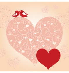 lovebird greeting card vector image vector image
