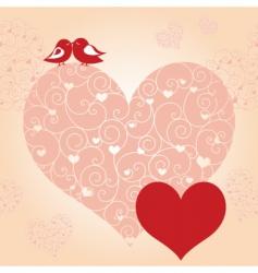 lovebird greeting card vector image