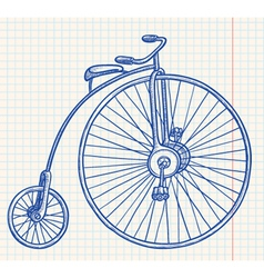retro-styled bicycle vector image