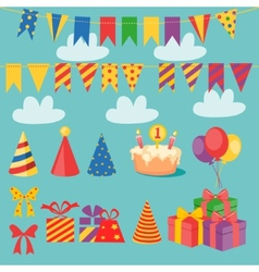 Birthday Set vector image