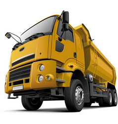 cab-over dump truck vector image
