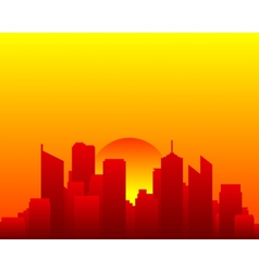 City skyline and sun vector image