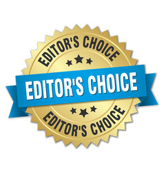 editors choice round isolated gold badge vector image