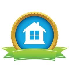 Gold house logo vector image