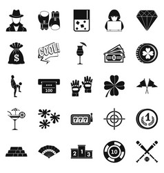 hazard icons set simple style vector image