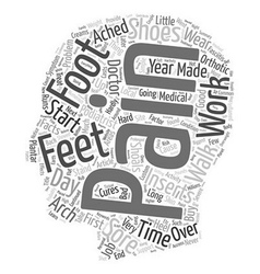 Sore Feet Foot Pain The simple facts and the cures vector image vector image