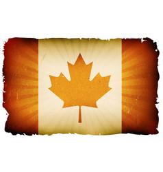 vintage canada flag poster background vector image vector image