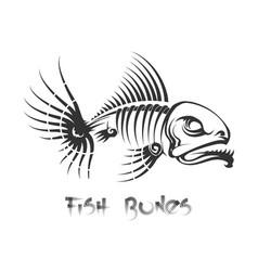 fish bones tattoo vector image