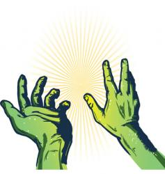 hands of fear illustration vector image