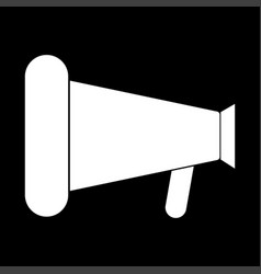Loud speaker or megaphone the white color icon vector