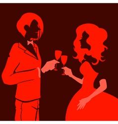 silhouette blacklit vector image vector image