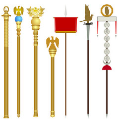 symbolism of the ancient roman legions vector image vector image