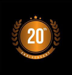 20th anniversary template design vector