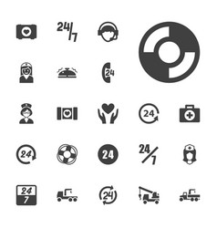22 assistance icons vector