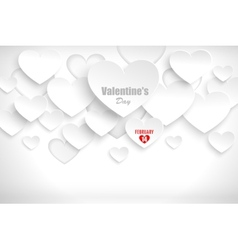 Abstract background with hearts vector image