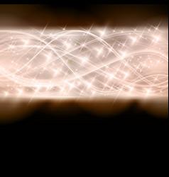 Abstract shiny star border vector image